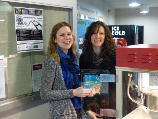 Sarah and Leigh-Anne getting popcorn ready at last year's festival.