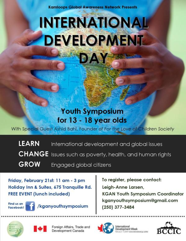 International Development Day: Youth Symposium Poster
