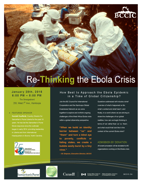 Re-Thinking the Ebola Crisis Poster